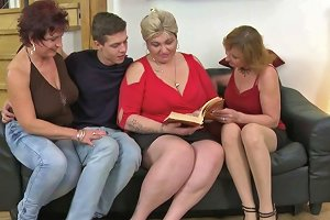 One Lucky Guy Having Funwith Three Mature Sluts Mature Nl