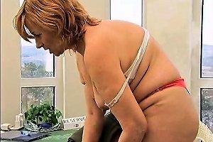 Nasty Blonde Mature Slut Gets Horny